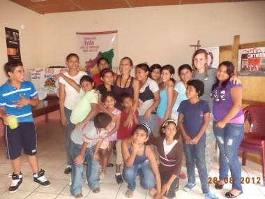 Raquel, Voluntaria de SETEM CÓRDOBA.2012,  Proyecto Samaritanas en Managua, trabaja con niñas/os, adolescentes y mujeres en alto riesgo social y en situación de Explotación Sexual Comercial.