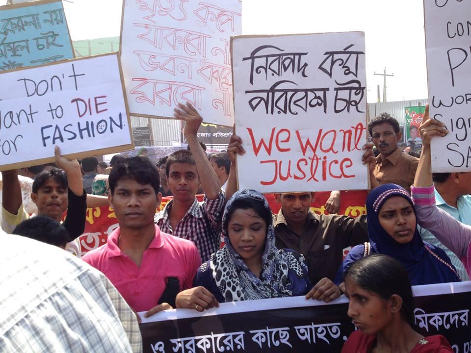 manifestación en bangladesh