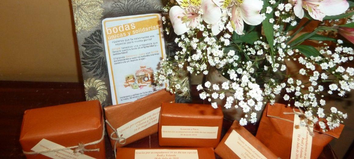 Detalles para bodas solidarias en la tienda de Comercio Justo de SETEM