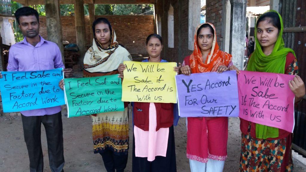 Protesta trabajadores textil en Bangladesh