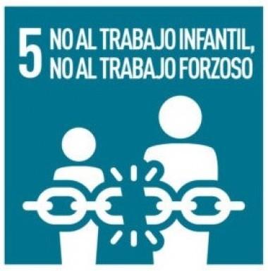 Cartel No al trabajo infantil forzoso