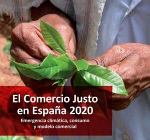 Portada del Informe EL Comercio Justo en España 2020