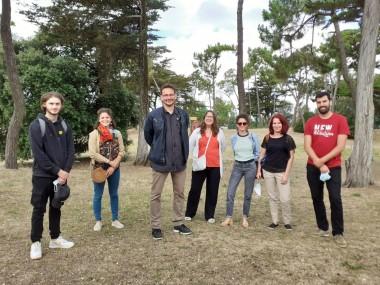 Representantes de las entidades organizadoras del Encuentro en Ile de Oléron